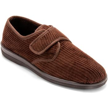 Chaussures Homme Chaussons Honcelac Derbies molletonnés extra-larges marron