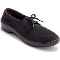 Chaussures Femme Derbies Pediconfort Derbies à lacets en maille extensible noir
