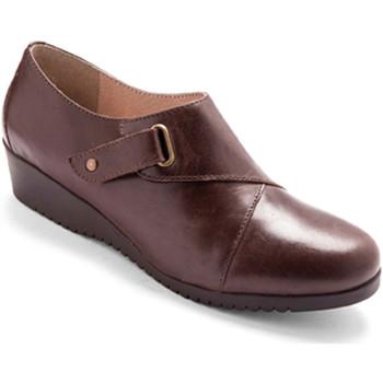 Chaussures Femme Derbies Pediconfort Derbies cuir à patte auto-agrippante lar marron