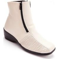 Chaussures Femme Boots Pediconfort Boots extensibles beige