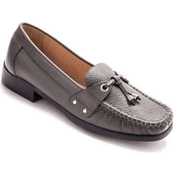 Chaussures Femme Mocassins Pediconfort Mocassins en cuir gris