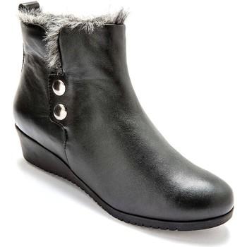 Chaussures Femme Boots Pediconfort Boots cuir avec aérosemelle noir