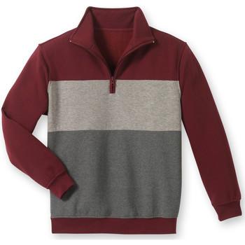 Vêtements Homme Sweats Honcelac Sweat-shirt en molleton gratté homme bordeauxgrisanthracite