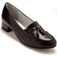 Chaussures Femme Mocassins Pediconfort Trotteurs à pompons cuir noiruni