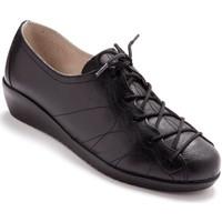 Chaussures Femme Derbies Pediconfort Derbies à lacets en cuir pour pieds sens noiruni