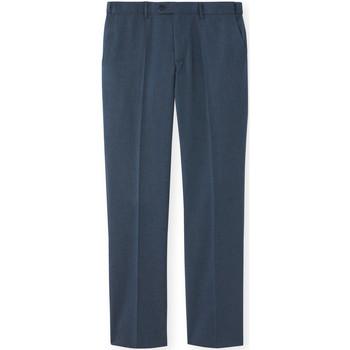 Vêtements Homme Chinos / Carrots Honcelac Pantalon de ville réglage invisible marine