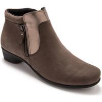 Chaussures Femme Boots Pediconfort Boots zippées aérosemelle taupe