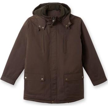 Vêtements Homme Parkas Honcelac Parka en tissu armuré pur coton homme marron