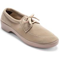 Chaussures Femme Chaussures de travail Pediconfort Derbies à lacets en maille extensible beige