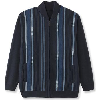 Vêtements Homme Gilets / Cardigans Honcelac Gilet zippé jacquardbleu