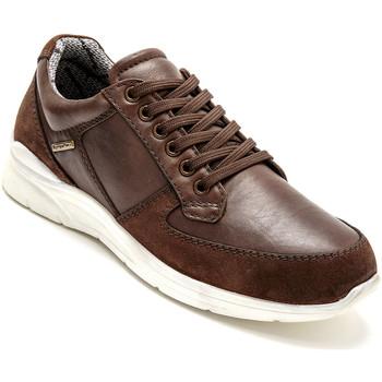Chaussures Homme Baskets basses Pediconfort Derbies imperméables à aérosemelle marron