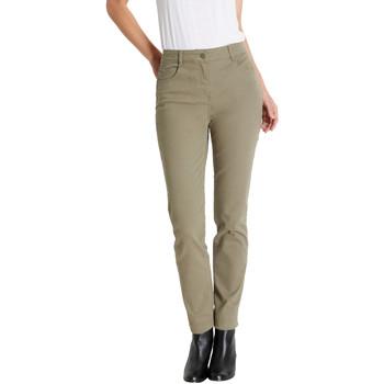Vêtements Femme Pantalons 5 poches Kocoon Pantalon droit petite stature kaki