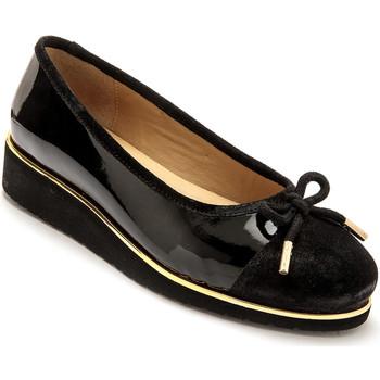 Chaussures Femme Ballerines / babies Pediconfort Ballerines cuir à aérosemelle vernisnoir