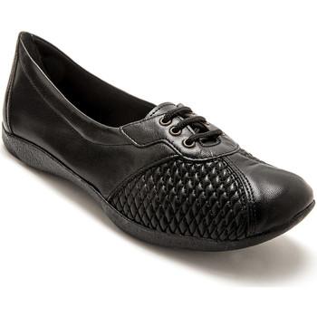 Chaussures Femme Derbies Pediconfort Derbies côtés extensibles cuir noir
