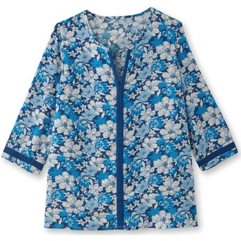 Vêtements Femme Tops / Blouses Balsamik Blouse manches 3/4 imprimbleu