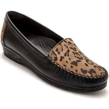 Chaussures Femme Mocassins Pediconfort Mocassins ultra souples largeur confort imprimlopard