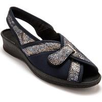 Chaussures Femme Chaussures de travail Pediconfort Sandales textile spécial hallux valgus imprimmarine