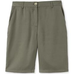 Vêtements Femme Shorts / Bermudas Kocoon Bermuda élastiqué tissu fluide kaki