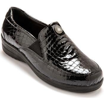 Chaussures Femme Slip ons Pediconfort Sans-gêne extra larges semelle amovible noir