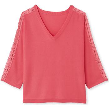 Vêtements Femme Pulls Balsamik Pull guipure aux manches rose