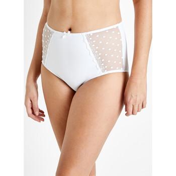 Sous-vêtements Femme Culottes & slips Balsamik Culotte effet ventre plat forme maxi blanc