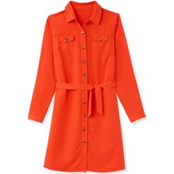 Vêtements Femme Robes courtes Balsamik Robe-chemisier avec ceinture rouge