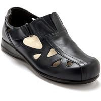 Chaussures Femme Derbies Pediconfort Derby ultra large pieds ultra sensibles marine