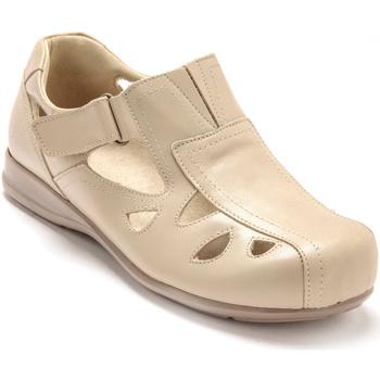 Chaussures Femme Derbies Pediconfort Derby ultra large pieds ultra sensibles beige