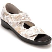 Chaussures Femme Voir mes préférés Pediconfort Sandales extra larges maille extensible imprimblanc