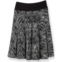 Vêtements Femme Jupes Balsamik Jupe fantaisie imprimnoirblanc
