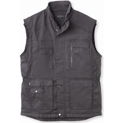 Vêtements Homme Blousons Honcelac Blouson multipoches sans manches doublé grisfonc