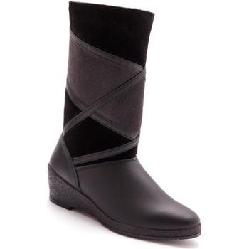 Chaussures Femme Bottes ville Pediconfort Bottes fourrées largeur confort noir