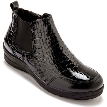 Chaussures Femme Boots Pediconfort Boots extra larges semelle amovible noir