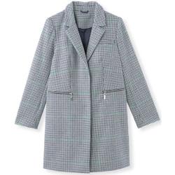 Vêtements Femme Manteaux Balsamik Manteau 3/4 style pardessus 29% laine carreauxmarinevert