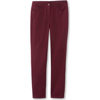 Vêtements Femme Pantalons Kocoon Pantalon droit stature + d'1,60m grenat