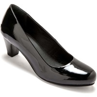 Chaussures Femme Escarpins Pediconfort Escarpins cuir grande largeur vernisnoir