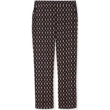 Vêtements Femme Pantalons Kocoon Pantalon élastiqué dos imprimnoir