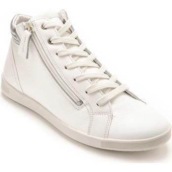Chaussures Femme Baskets montantes Pediconfort Baskets montantes zippées et lacées blanc
