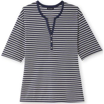 Vêtements Femme T-shirts manches courtes Kocoon Tee-shirt marinière blancraybleu