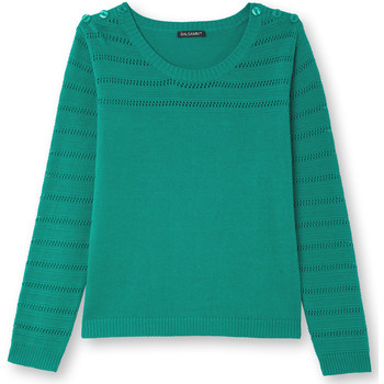 Vêtements Femme Pulls Kocoon Pull points ajourés vert