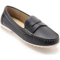 Chaussures Femme Mocassins Pediconfort Mocassins cuir femme marine