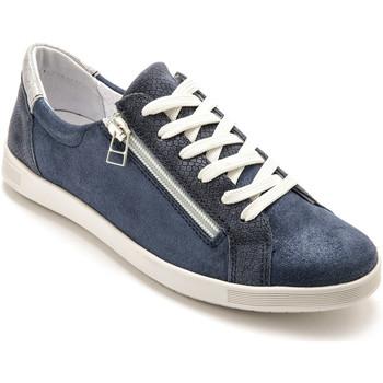 Chaussures Femme Baskets basses Pediconfort Baskets basses zippées et lacées marineimprimfantaisie
