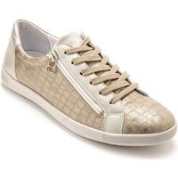 Chaussures Femme Baskets basses Pediconfort Baskets basses zippées et lacées dorbeige