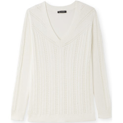 Vêtements Femme Pulls Kocoon Pull encolure V torsadé blanc