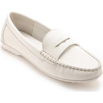 Chaussures Femme Mocassins Pediconfort Mocassins cuir femme blanc