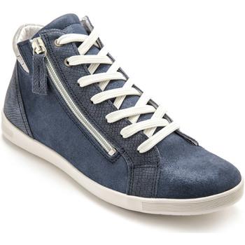 Chaussures Femme Baskets montantes Pediconfort Baskets montantes zippées et lacées marine