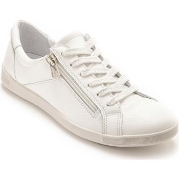 Chaussures Femme Baskets basses Pediconfort Baskets basses zippées et lacées blanc