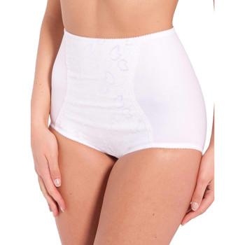 Sous-vêtements Femme Produits gainants Lingerelle Gaine-culotte à plastron brodé blanc