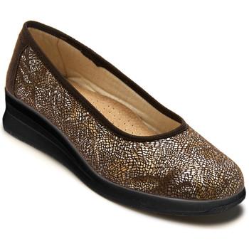 Chaussures Femme Ballerines / babies Pediconfort Ballerines pieds sensibles imprimmarron