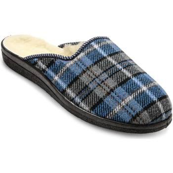 Chaussures Homme Chaussons Honcelac Mules mixtes fourrées laine majoritaire ecossaisbleu